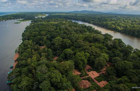 Arial Views of Tortuguero Canals